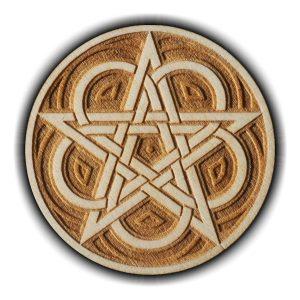 Pracownia Konkretu - pentagram celtycki magnes