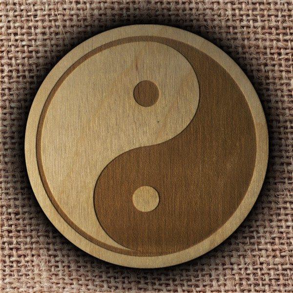 yin yang podkładka Pracownia Konkretu